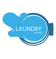 laundry service isolated icon water splash or vector image vector image