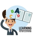 learning design Colorfull book icon vector image