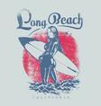 long beach wear vector image vector image