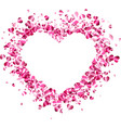 love valentines background with heart vector image vector image
