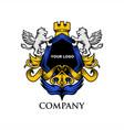 luxury shield lion vector image vector image