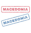 macedonia textile stamps vector image vector image