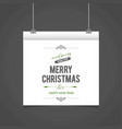 merry christmas card with typographic and light vector image vector image