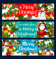 merry christmas santa holiday gifts banners vector image vector image