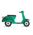Modern classic scooter vector image vector image