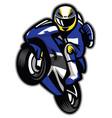 motorcycle racer wheelie vector image vector image