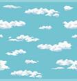 pattern cloud vector image vector image