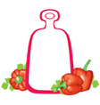 peppers board vector image vector image