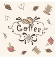 Print with Coffee Lettering vector image