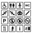 Public icons set vector image vector image