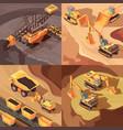 quarrying mine design concept vector image