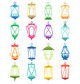 ramadan lantern set vector image vector image