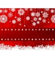red card with snowflakes vector image