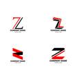 set initial letter z logo template design vector image vector image