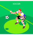 Soccer Goalkeeper 2016 Summer Games Isometric vector image vector image