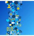 Social media network background vector image vector image