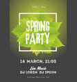 spring night club party flyer invitation poster vector image vector image