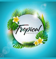 summer tropical paradise with vector image vector image