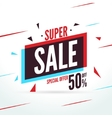 Super Sale special offer 50 off discount baner vector image vector image