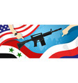 syria america russia usa proxy war arms conflict vector image