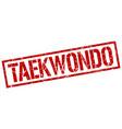 taekwondo stamp vector image vector image