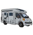 the silver caravan vector image vector image
