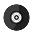 tire car race shadow vector image vector image