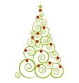 tree pine christmas icon vector image vector image