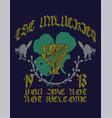 unlucky clover irish pub vector image