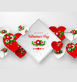 valentines day holiday banner or poster vector image vector image