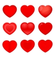 Valentines Icons Hearts vector image