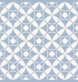 vintage seamless pattern blue geometric texture vector image vector image