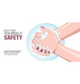 washing hand for safety vector image vector image
