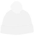 White winter hat with pompom vector image vector image