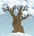 Winter tree background vector image