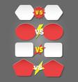 battle versus labels in flat style vector image