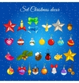 Great set of toys for Christmas decorations vector image