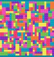 background of child plastic building block vector image