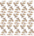 seamless floral pattern with branches vector image