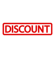 Stamp with word discount inside vector image