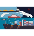 Fireboat in the harbour vector image