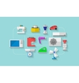 Flat icons for household appliances vector image