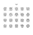 african masks well-crafted pixel perfect vector image vector image