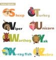 Animal alphabet 4 vector image