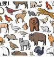 animals and birds seamless pattern hunting sport vector image vector image