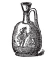 aryballos jar for unguents vintage engraving vector image vector image