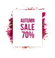 autumn-sale vector image vector image