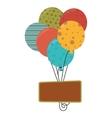 balloons air party card vector image