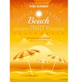 Beach party background with umbrellas vector image vector image