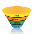 business growth colorful cone shape banner vector image vector image